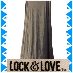 🆕 Maxi Skirt-Ultra Soft & Comfy, Heather Gray